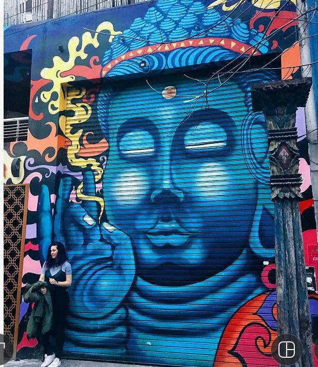 mural buddha
