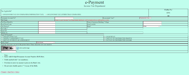 online tax payment-Tax payment-income tax e payment-efilling income tax