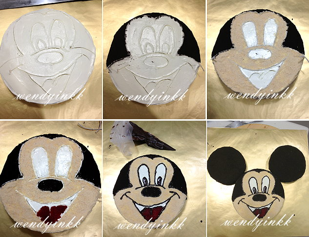 Table for 2 or more mickey mouse cake kiddy cakes 3 for Mickey mouse face template for cake