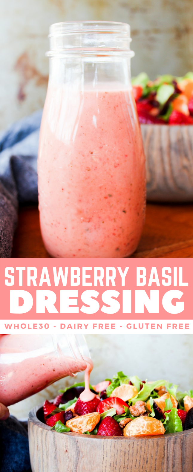 STRAWBERRY BASIL DRESSING #paleo #whole30