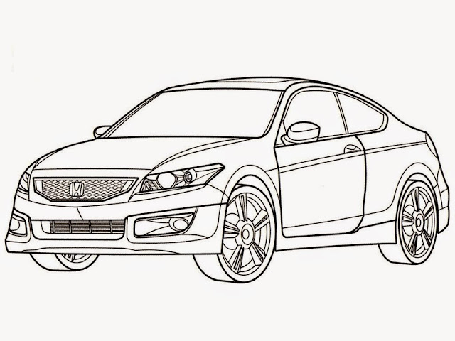 Honda Accord Car Coloring Pages