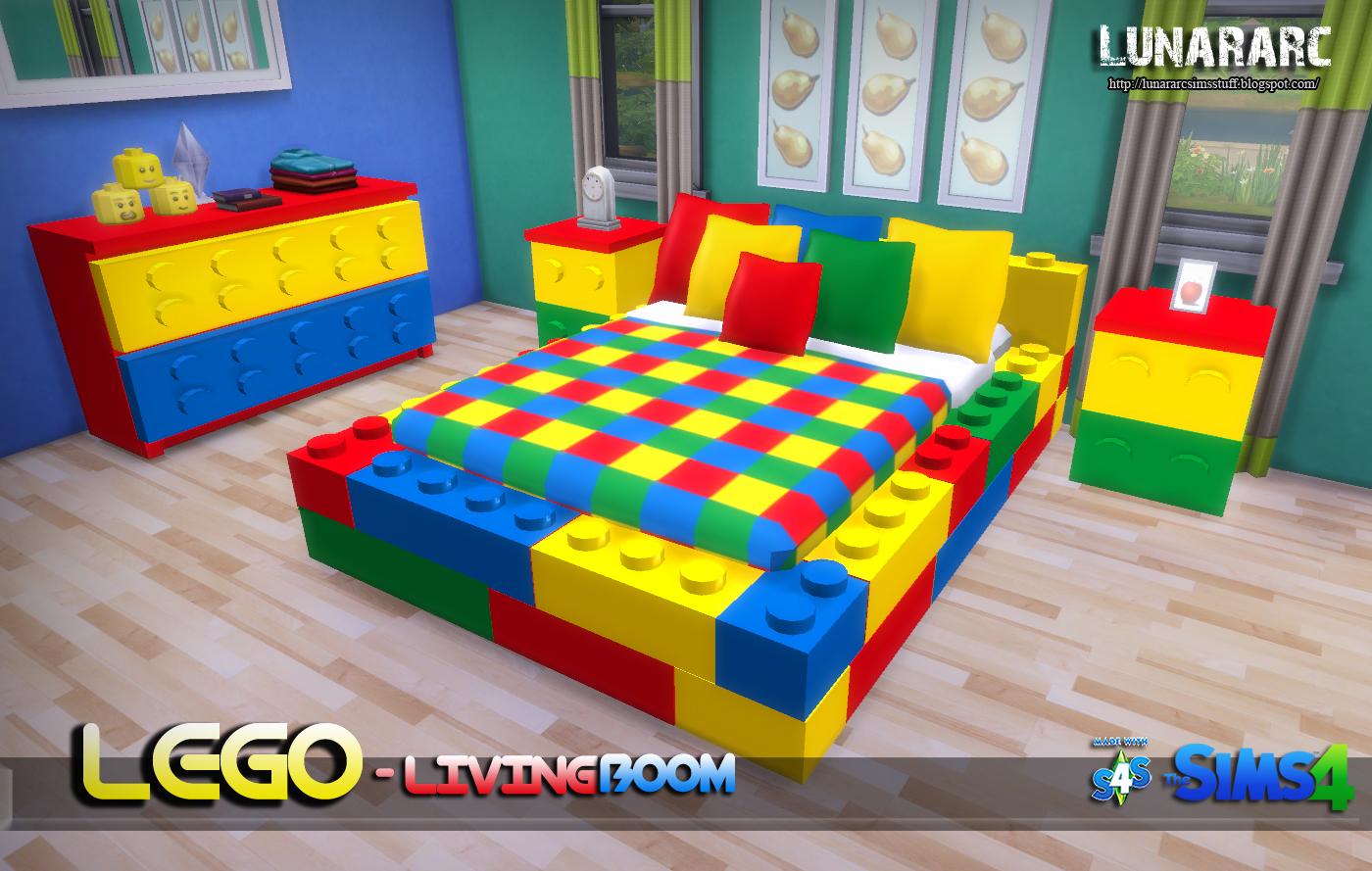 Lunararc Sims Lego Bedroom Set