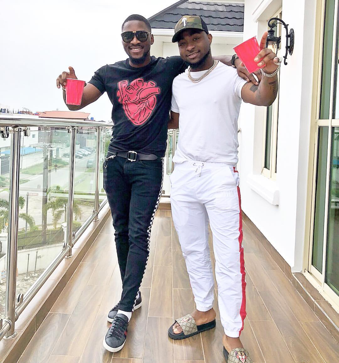 Davido and Tobi Bakre pictured chilling together