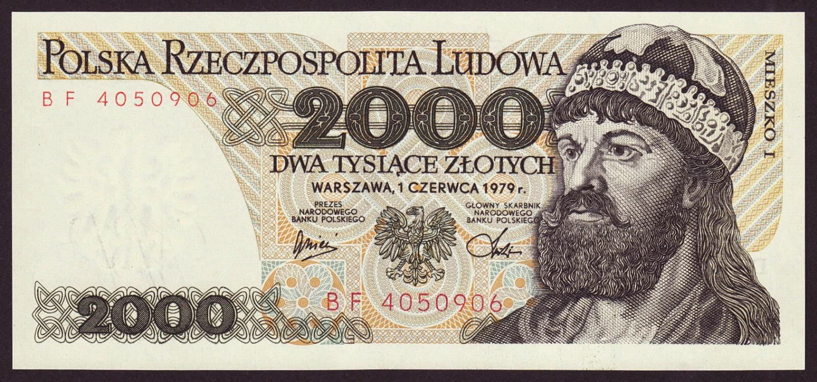 Poland Banknotes 2000 Zloty banknote 1979 Mieszko I, Duke of Poland