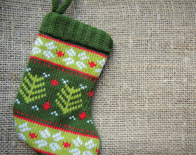 Knitted Christmas Stocking For Baby