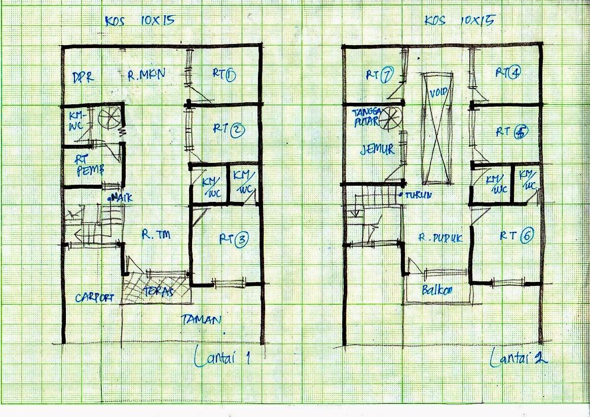 Rumah Minimalis Beserta Denahnya Terbaru Denah Rumah 2 Lantai