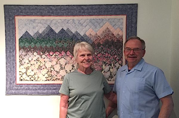 impressionist mountain quilt