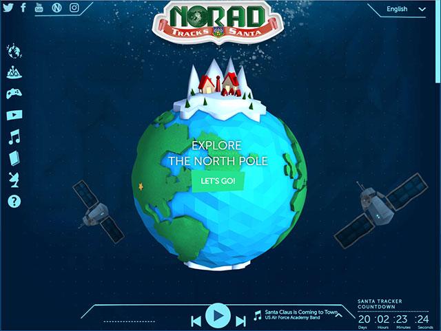 NASAのサンタクロースを追跡できるサイト「NORAD」
