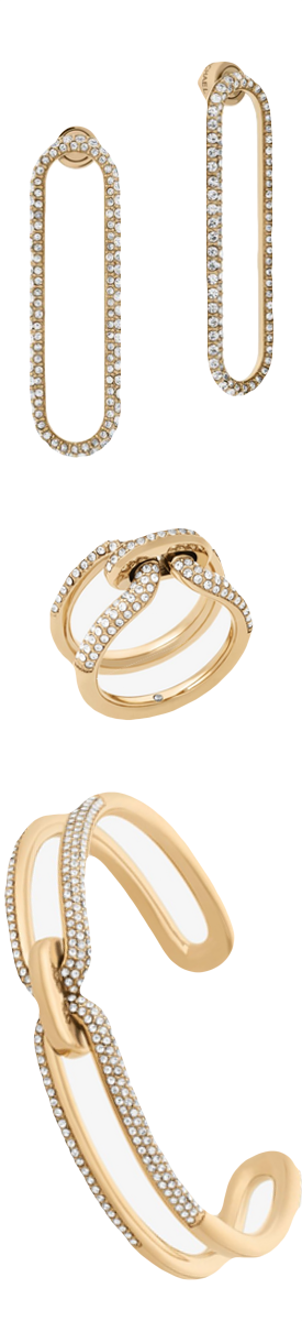 MICHAEL KORS Pavé Gold-Tone Jewelry (sold separately)