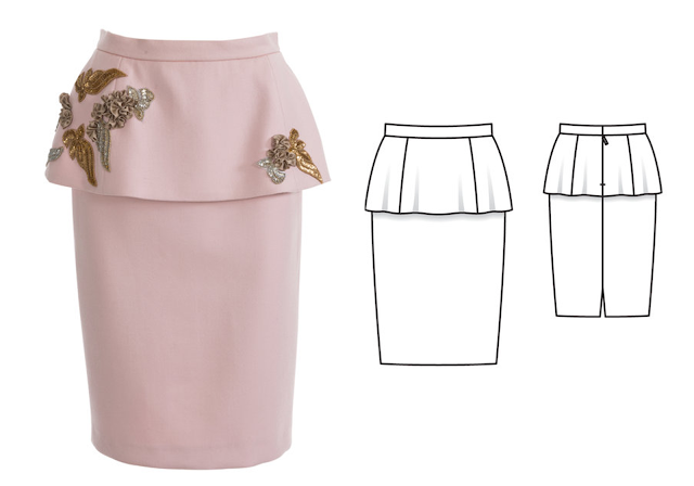 Peplum skirt pattern