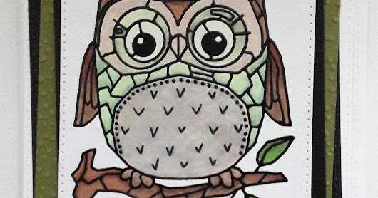 Owl be... Woodware stamp