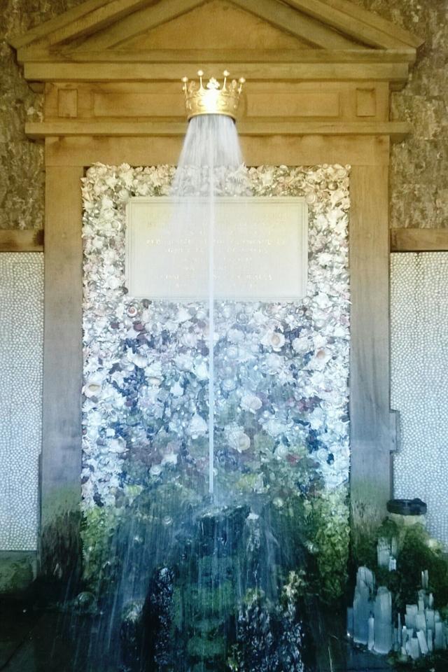 Inside Oberon's Palace at Arundel Castle Gardens
