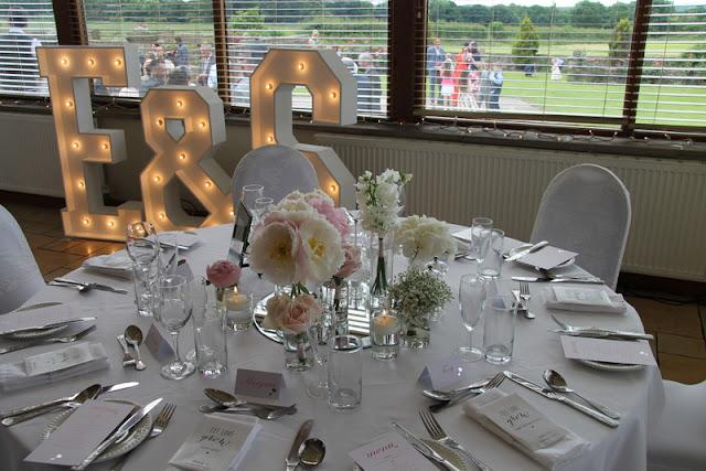 Ste emma 39 s elegant pink grey wedding day at beeston manor for Table 8 beeston