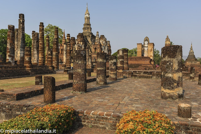 Wat Mahathat, Sukhothai - view from north east