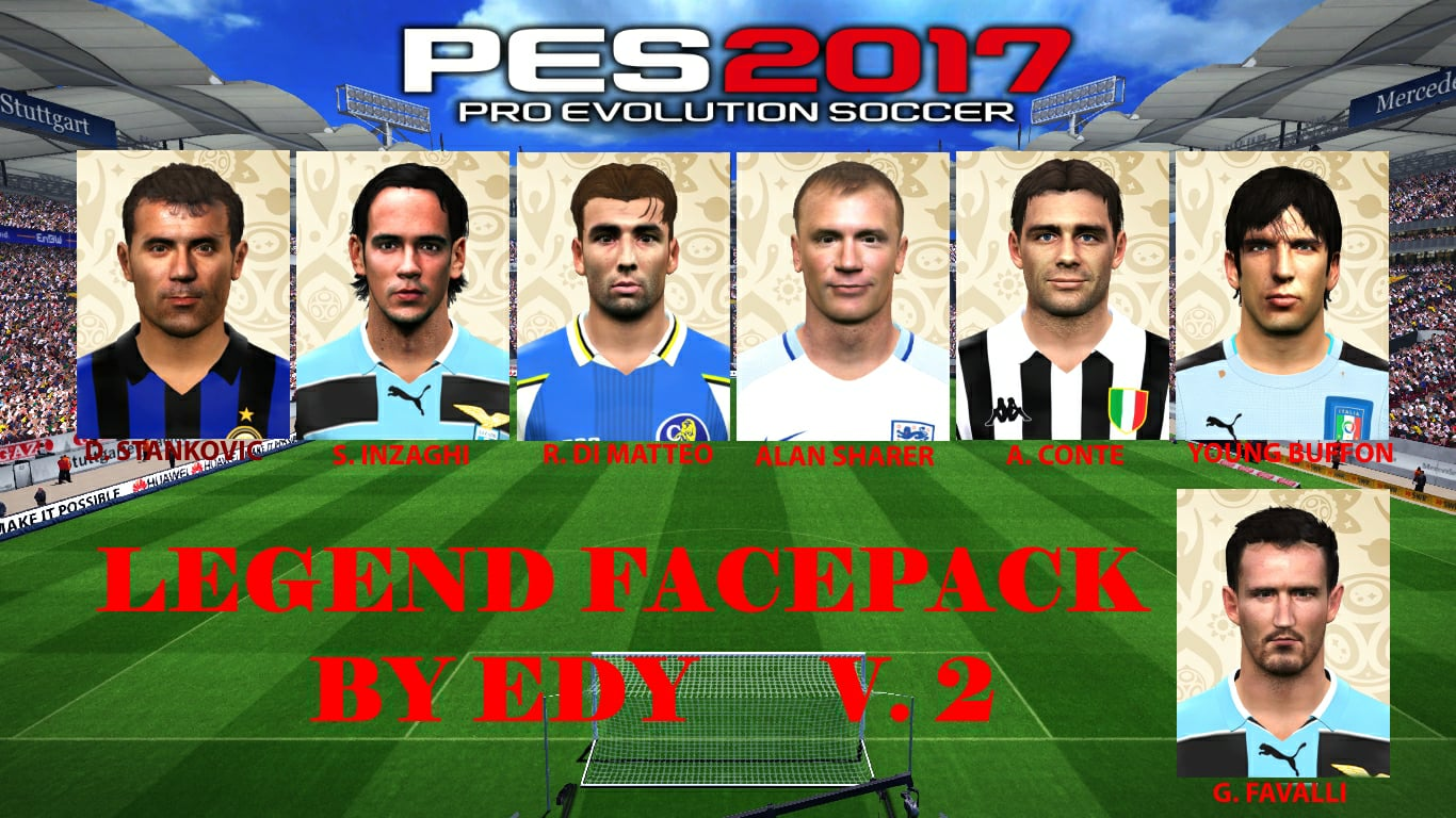 PES 2017 legend facepack v 2 by Eddie Facemakers