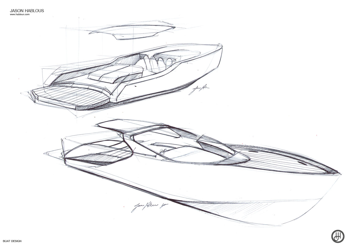 Jd Boat Design Sketches