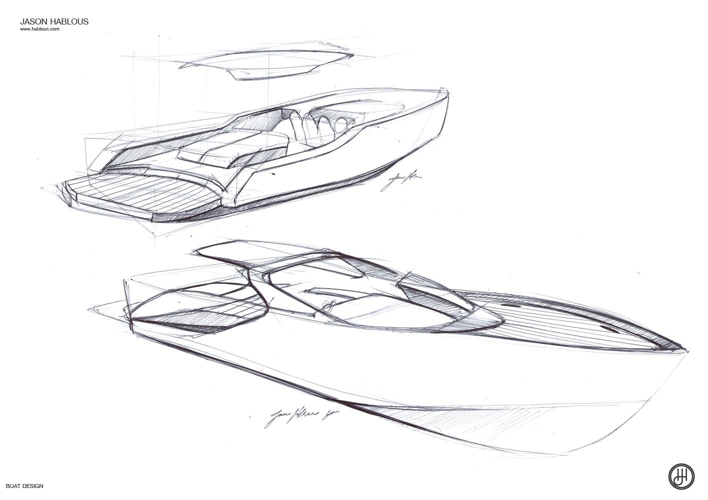 Jd Boat Design Sketches