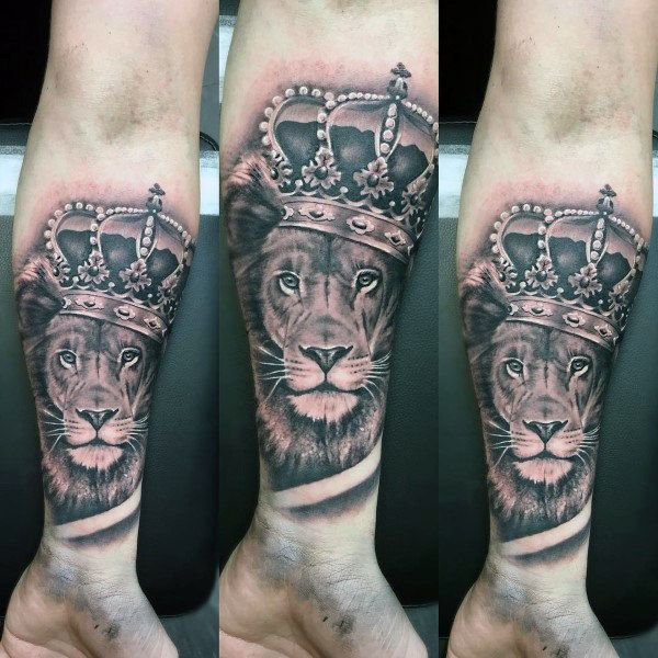 tatuajes para hombres de rey leon