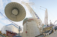False Start: Installation of the containment dome at China's Haiyang nuclear plant in August 2015 was the end of the beginning of this AP1000 facility's problems. (Photo Credit: Imaginechina/AP) Click to Enlarge.