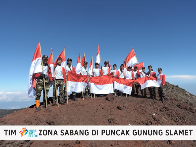 Pendakian Gunung Slamet Kirab Satu Negeri Zona Sabang