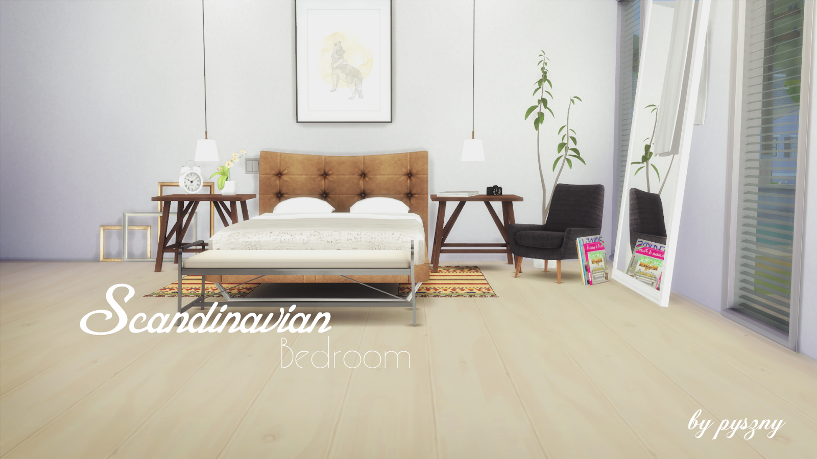 My Sims 4 Blog Scandinavian Bedroom Set By Pyszny