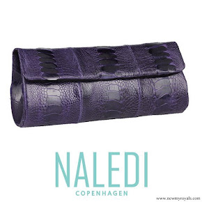 Princess Marie carried Naledi Copenhagen Ostrich clutch