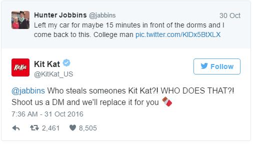 Víctima de bizarro ladrón de Kit Kats recibe una recompensa