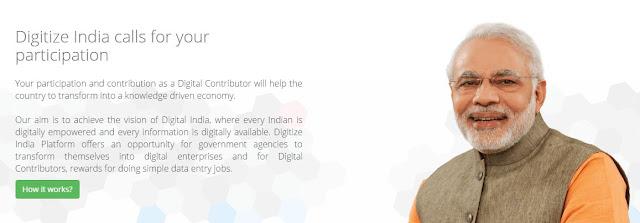 Digitize India Data Entry Job