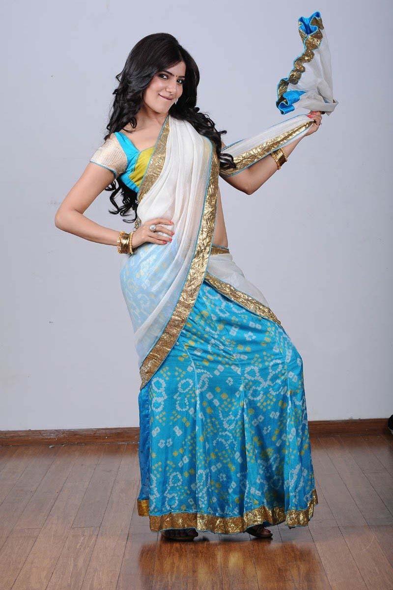 Samantha Hot Navel Show In Half Saree  Samantha Heroine-3754