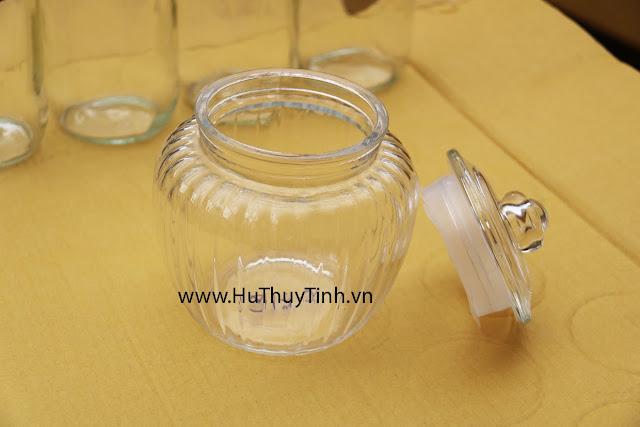 Binh thuy tinh nap kin 1 lit