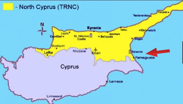 Christophers Expat Adventure Famagusta Salamis Tour Northern - Northern cyprus map