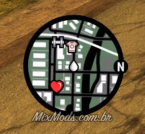 gta sa san andreas new radar mini-map mod