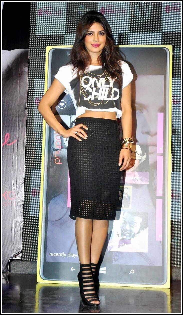 Priyanka Chopra in See-through Skirt