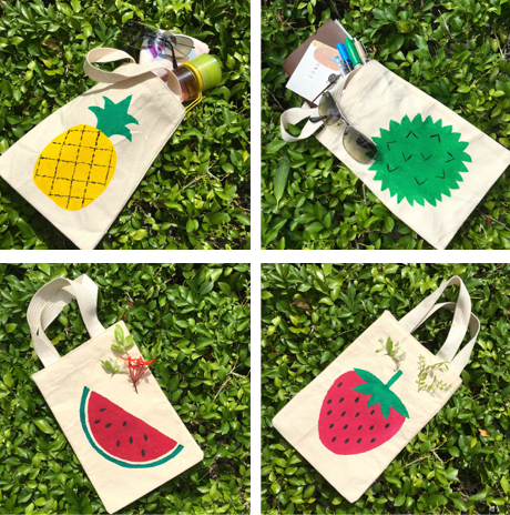 Use Cloth, Not Plastic Tutti Fruitti Fabric Bags