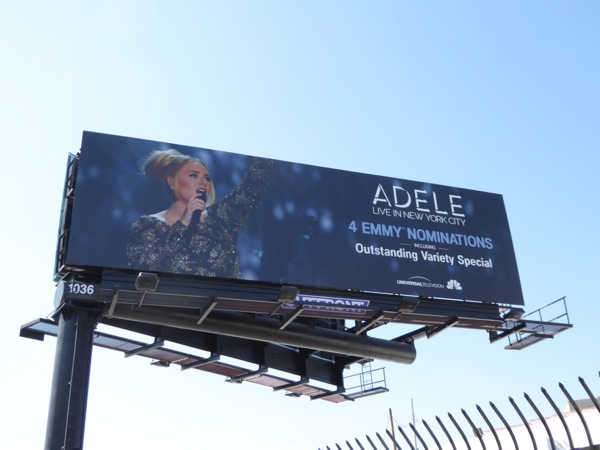 Adele Live in New York City Emmy nomination billboard