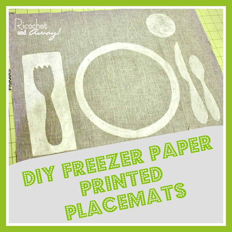 Ricochet And Away Freezer Paper Printed Placemats