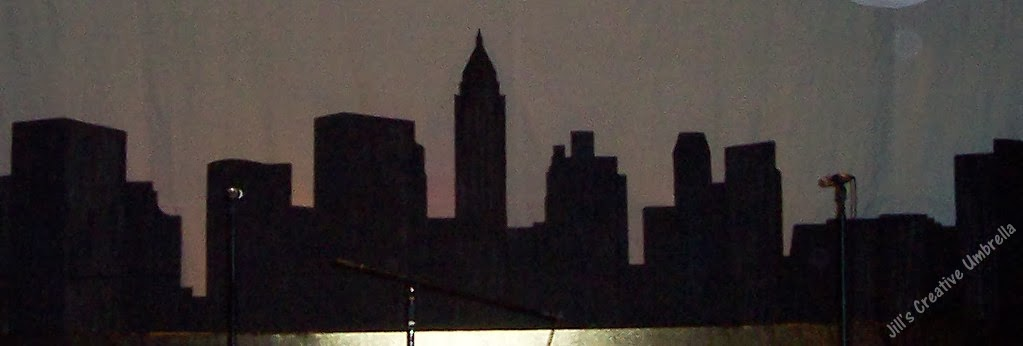 Cardboard Creations New York Skyline Silhouette