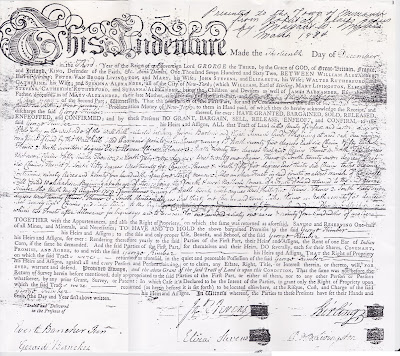 George Kimber's Deed Dec. 13, 1762 Granted by New Jersey Proprietors