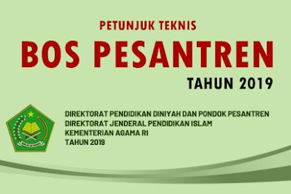 Juknis Bantuan Operasional Sekolah (BOS) Pada Pondok Pesantren Tahun 2019