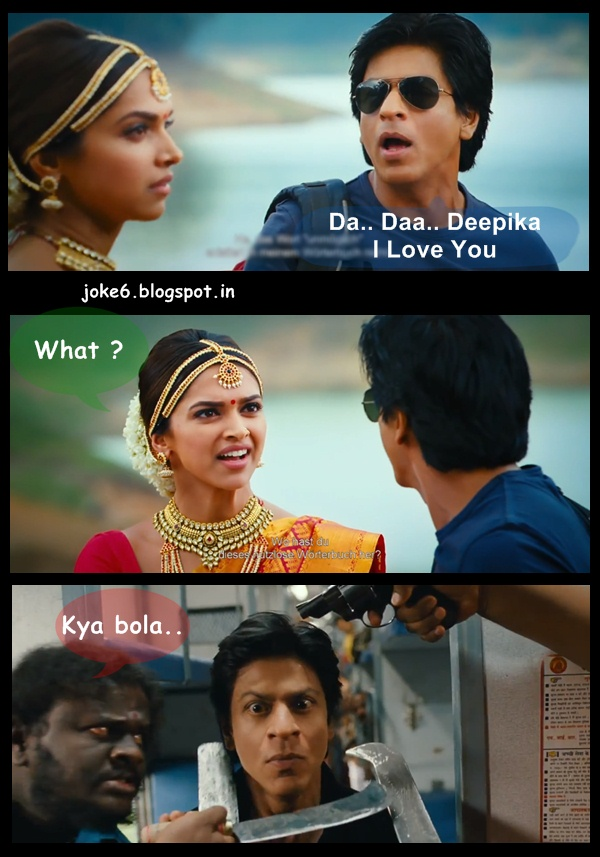 Shahrukh say I love you to deepika in chennai express