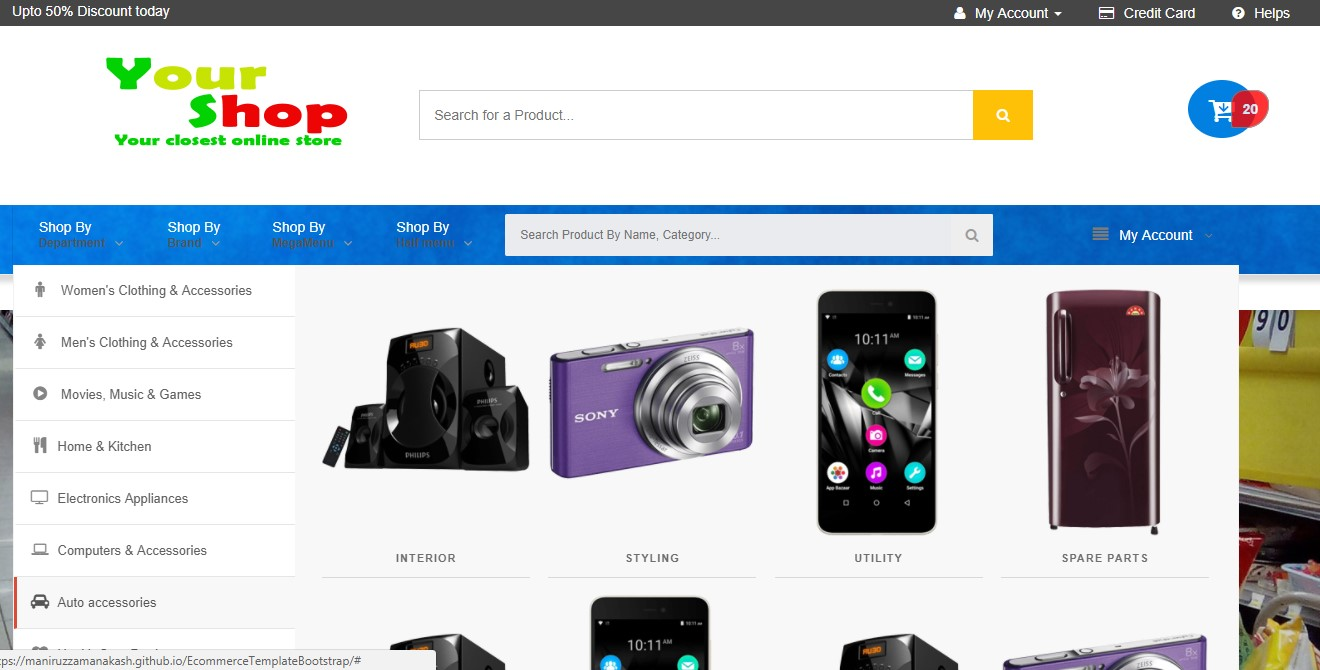 Download Free Complete E-Commerce Template From GitHub