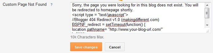 How To Redirect Blogger 404 Error page To Homepage in blogger with   javascript.