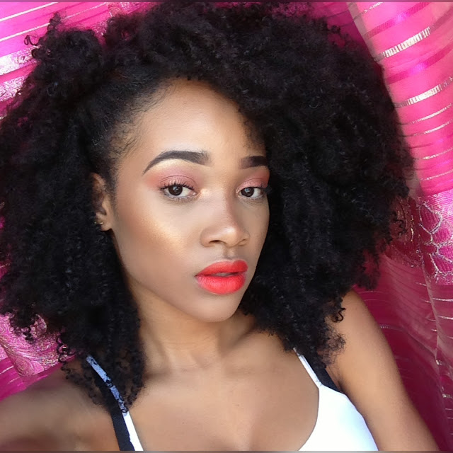 Peachy Orange Makeup look