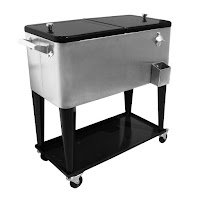 Stainless Portable Patio Cooler Cart
