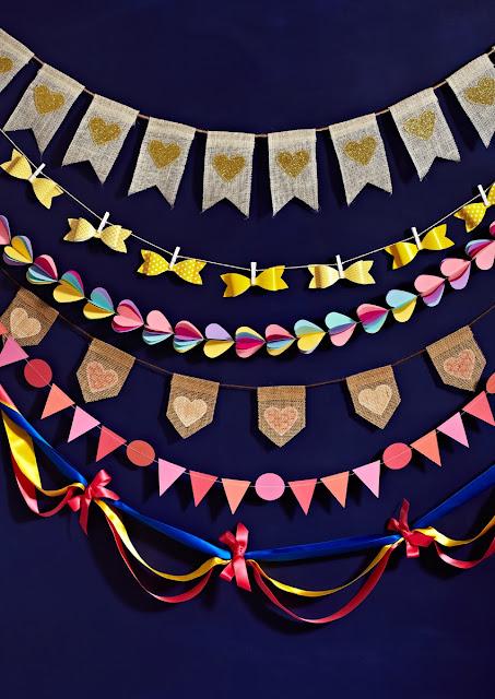Lorrie Everitt's diy bunting projects on Weddingbells.ca