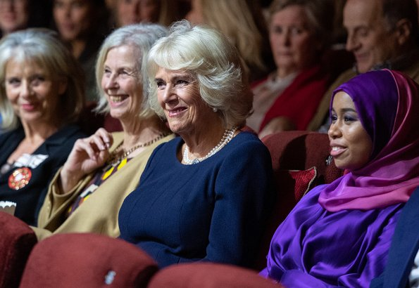 The Duchess of Cornwall attended the premiere of Riding A Dream, a documentary about Khadijah Mellah