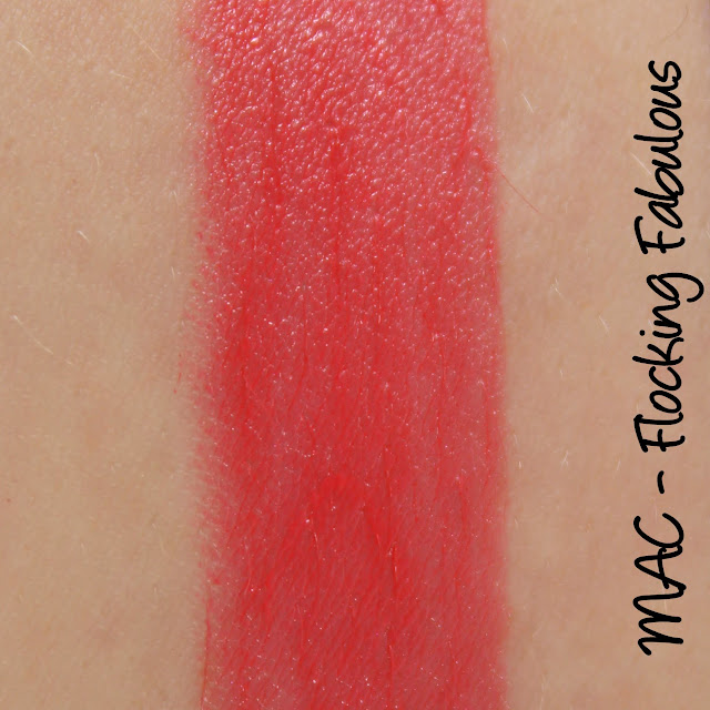 MAC Flocking Fabulous lipstick swatches & review