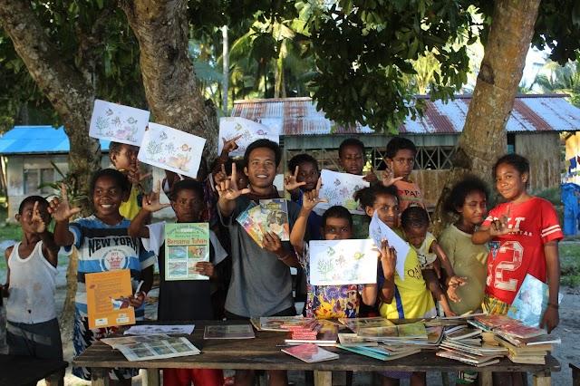Rumah Baca Taman Wisata Perairan (TWP) Padaido #Samberpasi