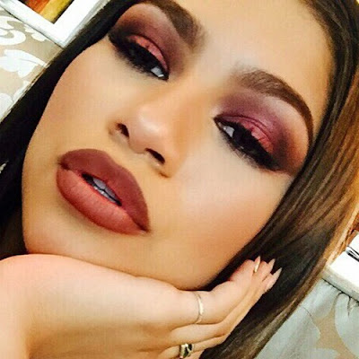 Zendaya, Fall/Autumn Makeup, Cherry Diamond Lips
