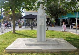 προτομή της Μαρίας Πολυδούρη στην Καλαμάτα